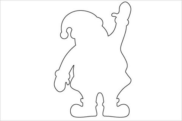 Santa Claus Line Drawing Design