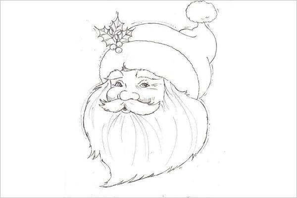 Santa Claus Pattern Template