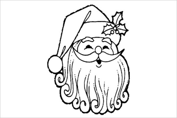 Santa Claus Pencil Drawing Template