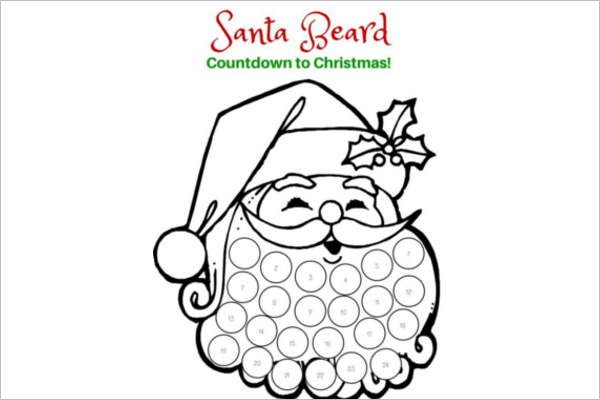 Santa Claus with Reindeer Template