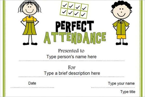 School Attendance Certificate Format