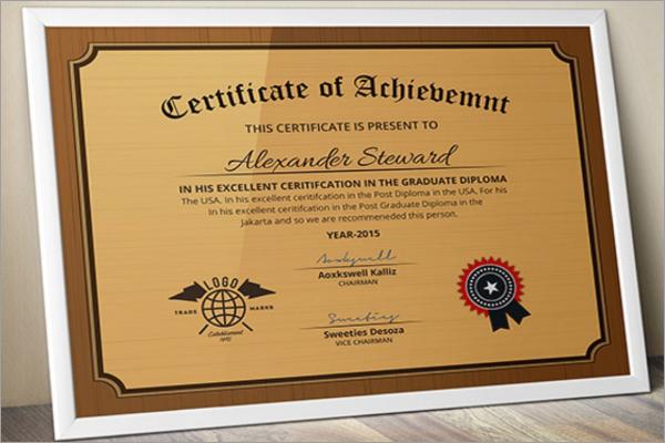 School Certificate Name Design