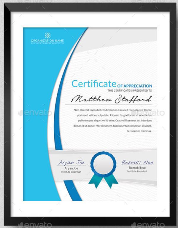 School Certificate for Student
