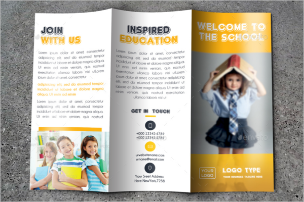 School kids Trifold Brochure