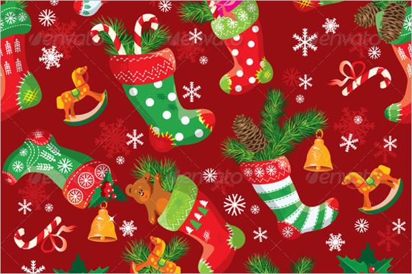 Seamless Christmas Stocking Pattern