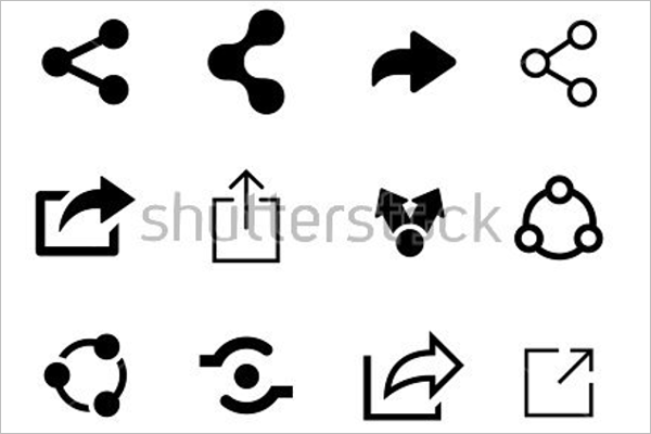 Set Of Share Icons PSD