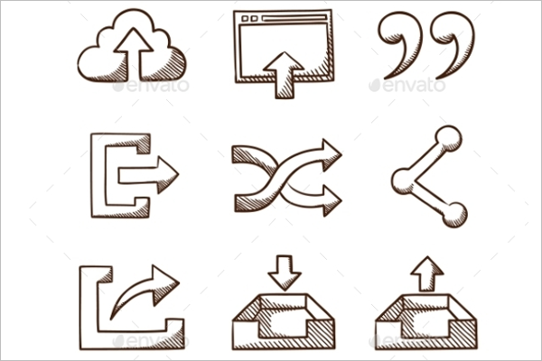 Sharing Icons Collection Design