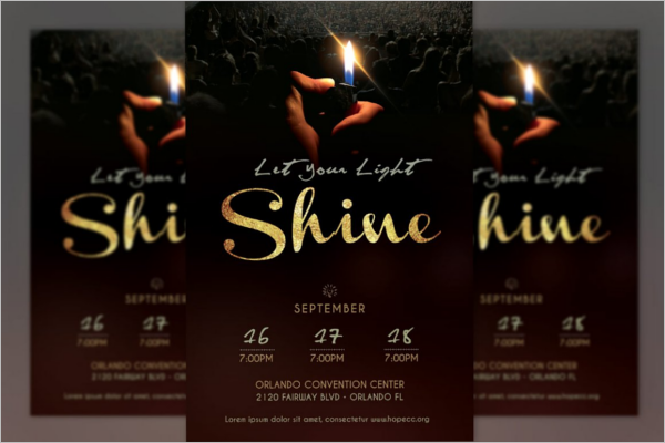 Shine Church Poster Design