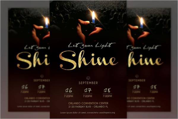 Shine Church Poster Design