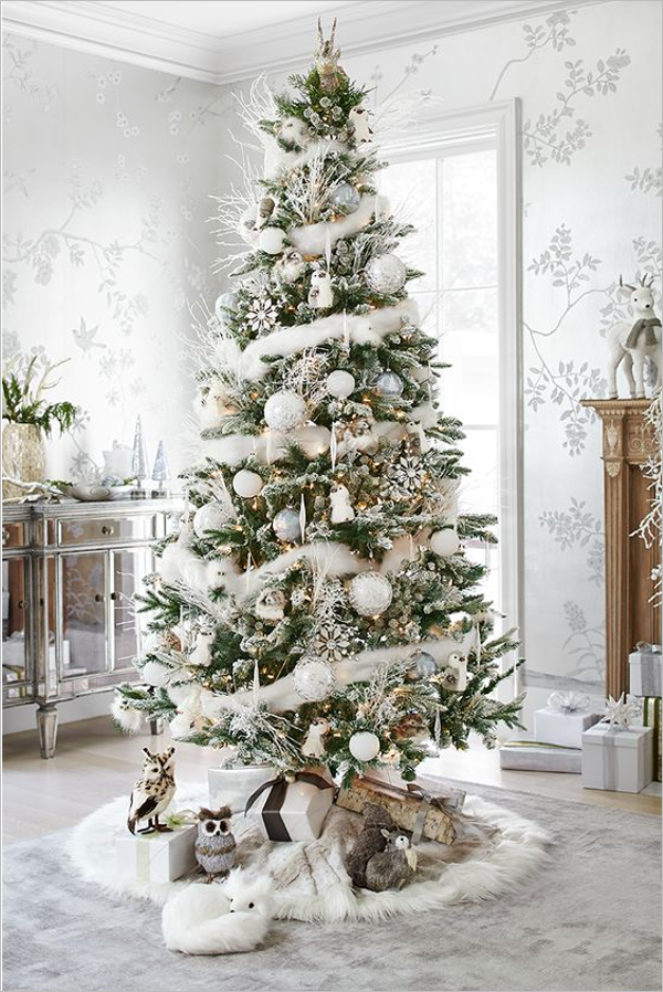 Silver & White Christmas Centerpiece