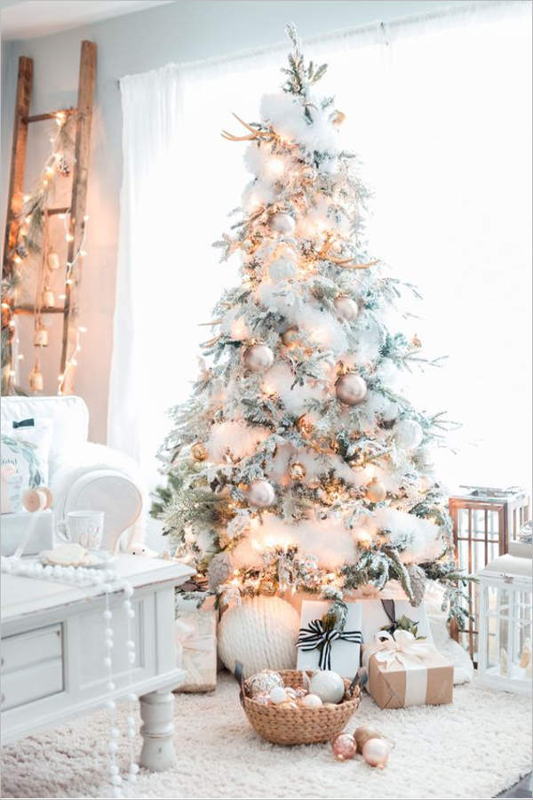 Silver & White Christmas Decorations