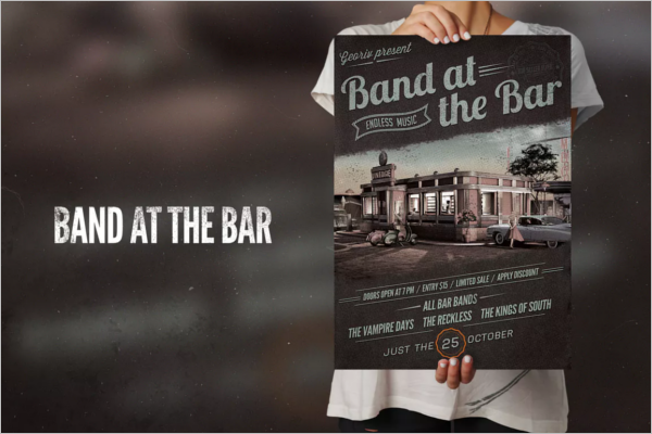 Simple Band Poster Template