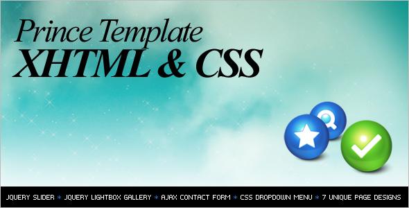 Simple HTMLWebsite Template