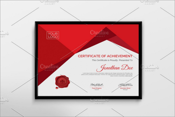 Simple School Certificate Template