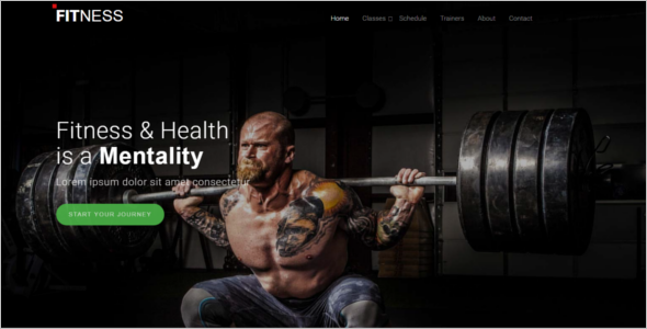 Simple Sports Website Template