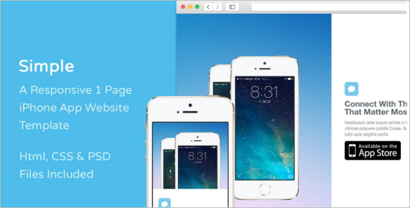 Simple iPhone Website Template