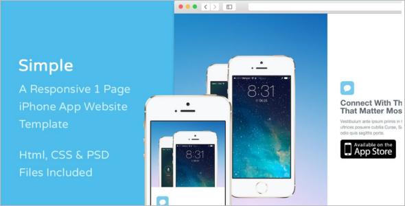 Simple iPhone Website Template
