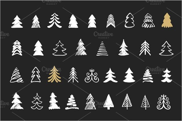 Sliver & Black Christmas Tree Idea