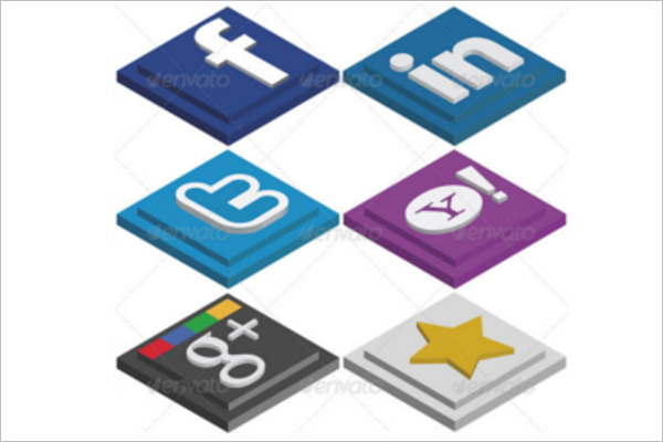 Social Media Icons PSD Design