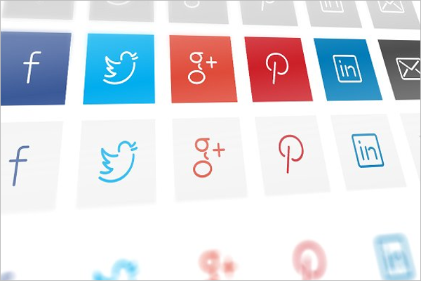 Social Sharing Icons PNG