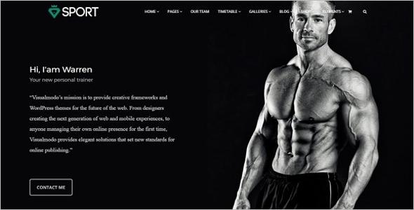 Sport WordPress Website Theme