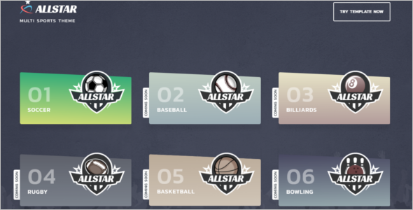 Sports Broad Website Template