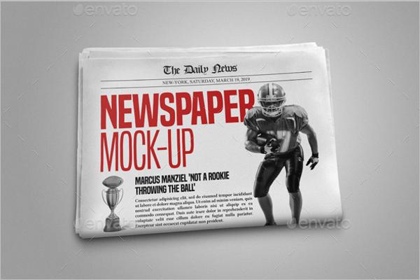 Sports Newspaper Mockup Template