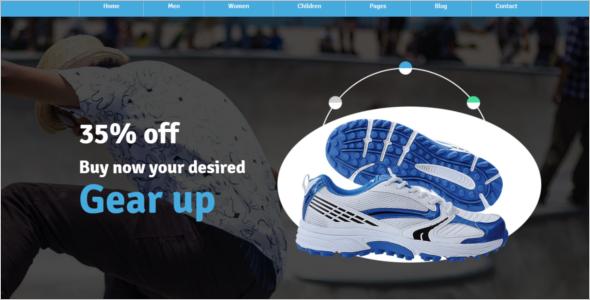 Sports Shop Website Template