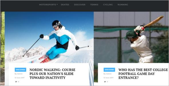 Sports Website Design Template