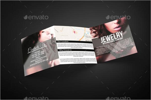 Square Jewelry Brochure Design