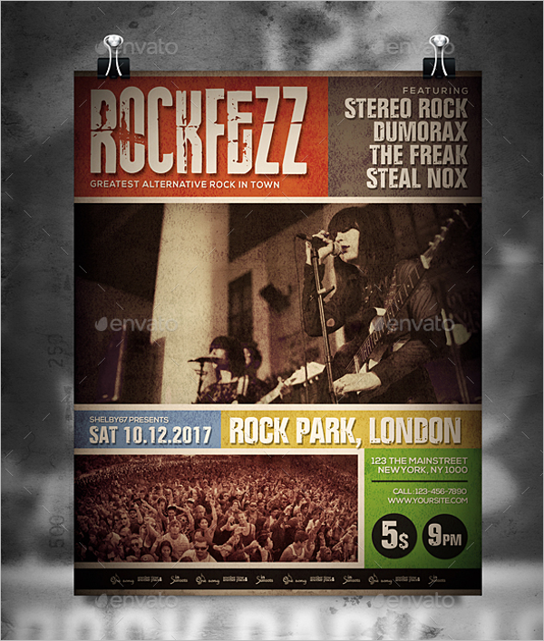 Street Band Flyer Template