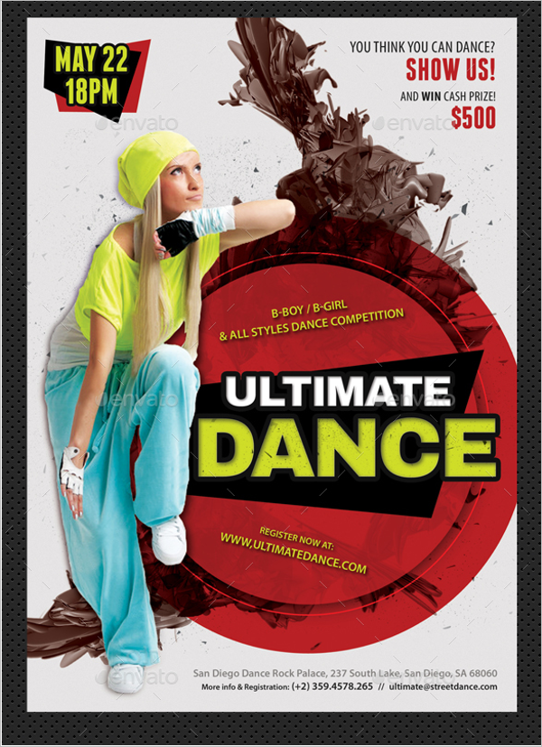 Street Dance Competition Poster Template