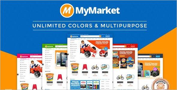 Supermarket Magento Website Theme