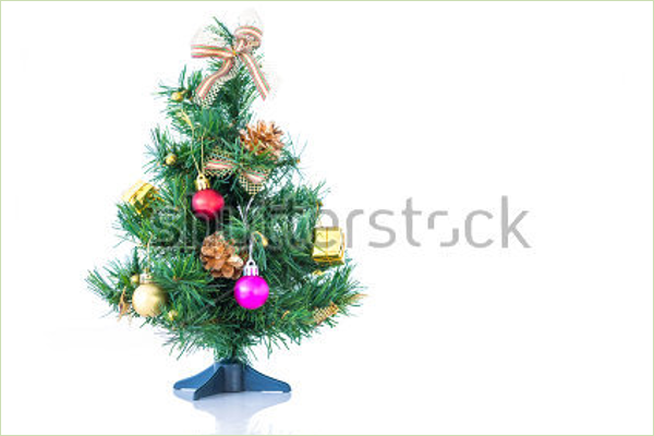 Tabletop Christmas Tree Template