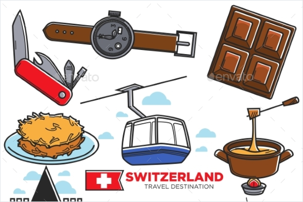 Tourism Icons Vector Template