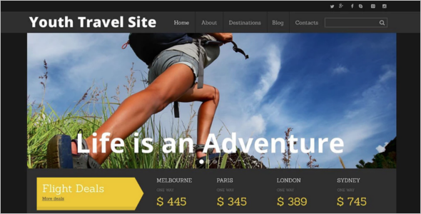 Tourism Responsive Website Template