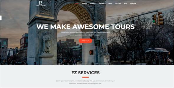 Tourism Website Design Template