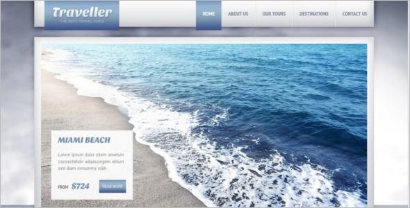 Tourism Website Template Free