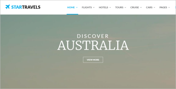 Tourism Website Template HTML