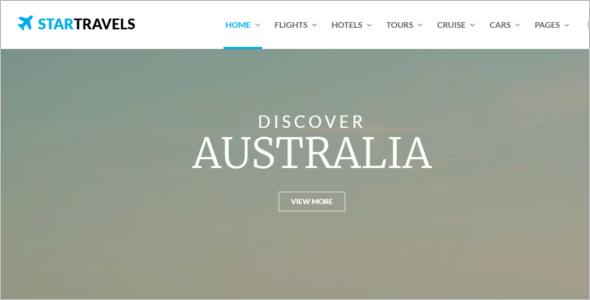 Tourism Website Template HTML