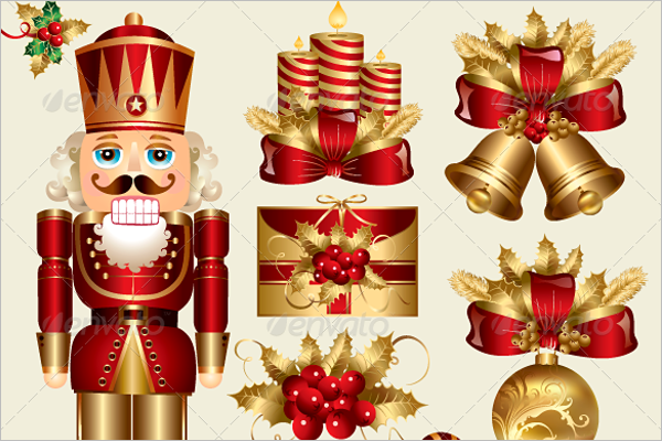 Traditional Christmas elements Vector