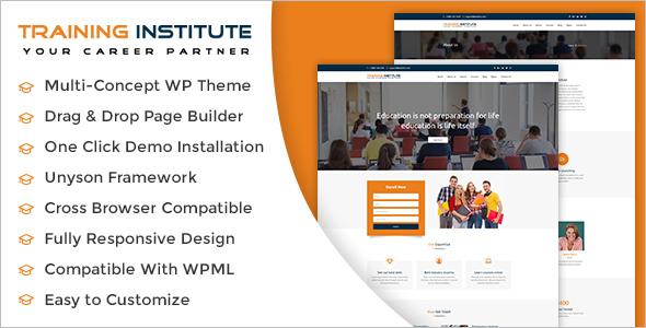 Training Institute WordPress Theme