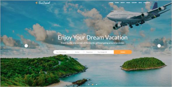Travel Agency Online Website Template