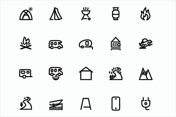 Travel Icon Set Design