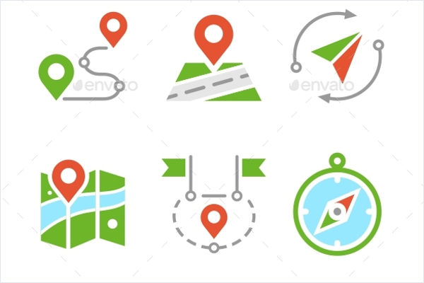 Travel Icons Vector Template