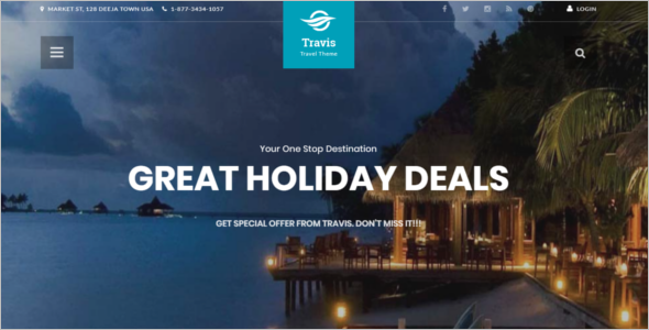 Travel agency CMS Website Template