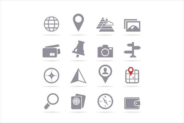 Travel vacation icon vector Design