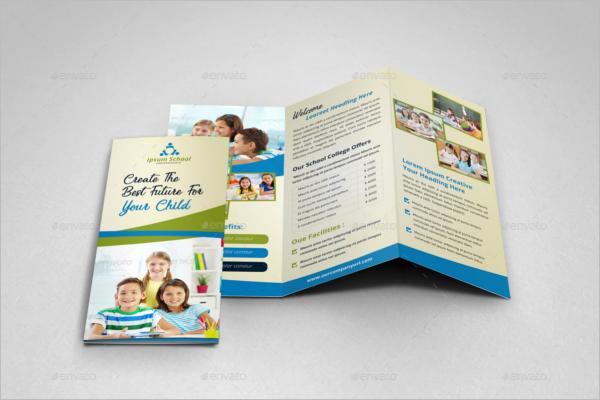 Tri-Fold College Brochure Template