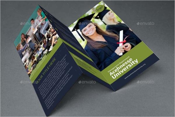 Tri-Fold University Brochure Template