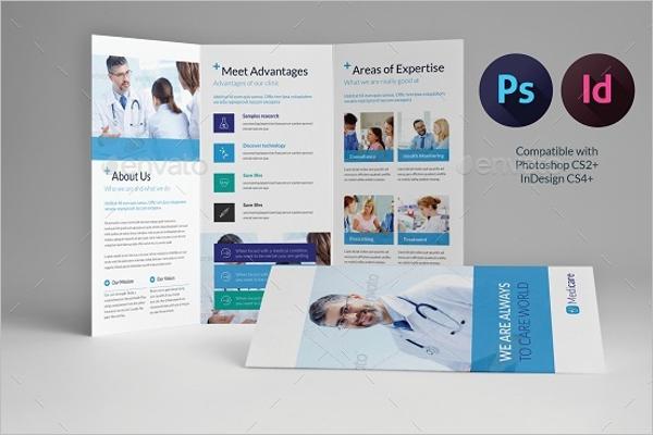 Tri-fold Medical Brochure Template